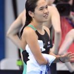 競泳8日目 予選を泳ぐ一ノ瀬メイ選手 撮影 西川隼矢
