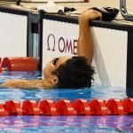 競泳8日目 予選を泳ぎ終えた木村敬一選手 撮影 西川隼矢