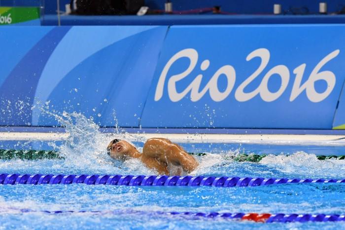 100メートル自由形(S11)決勝での木村敬一の泳ぎ 写真・西川隼矢