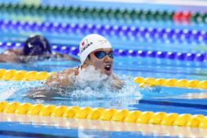 予選2位で決勝進出した木村敬一選手の泳ぎ