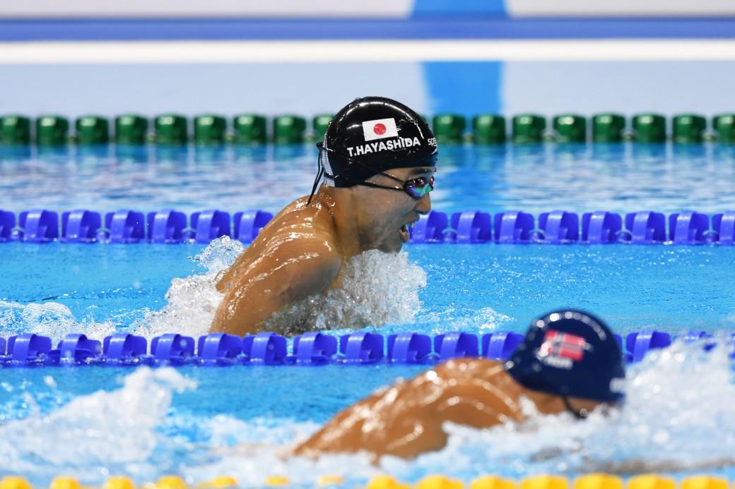 競泳7日目 予選を泳ぐ林田泰河選手