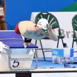 競泳7日目 予選を泳ぐ鈴木孝幸選手