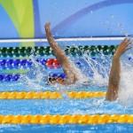 競泳9日目 予選を泳ぐ成田真由美選手
