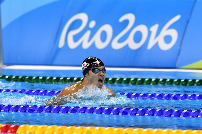 競泳:金メダル逃し、木村の競技が終わる。