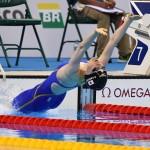 競泳10日目 予選を泳ぐ笠本明里選手