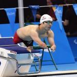 競泳10日目 予選を泳ぐ鈴木孝幸選手