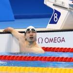 競泳10日目 予選を泳ぐ鈴木孝幸 写真・西川隼矢