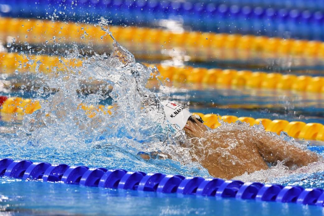競泳10日目 予選を泳ぐ中島啓智選手