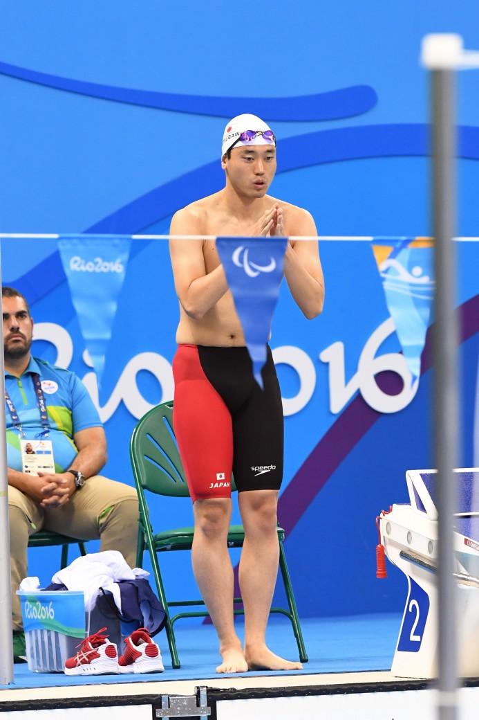 競泳10日目 予選を泳ぐ津川拓也選手