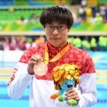 銅メダルを獲得した中島啓智選手