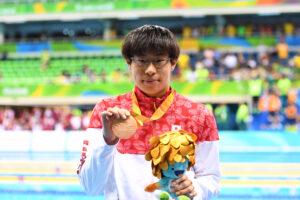 競泳:最終種目・200M個人メドレー(S14)で17歳の中島が銅メダル!