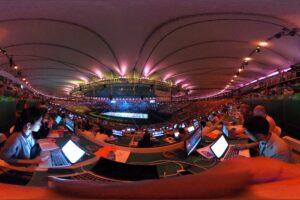 開会式の模様を360度カメラで(撮影:堀潤)