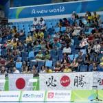 スエーデン×日本戦の観客席
