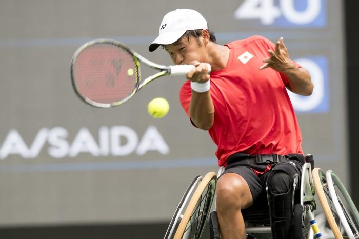 終始攻撃的なテニスを貫いた三木・真田ペア 写真・山下元気