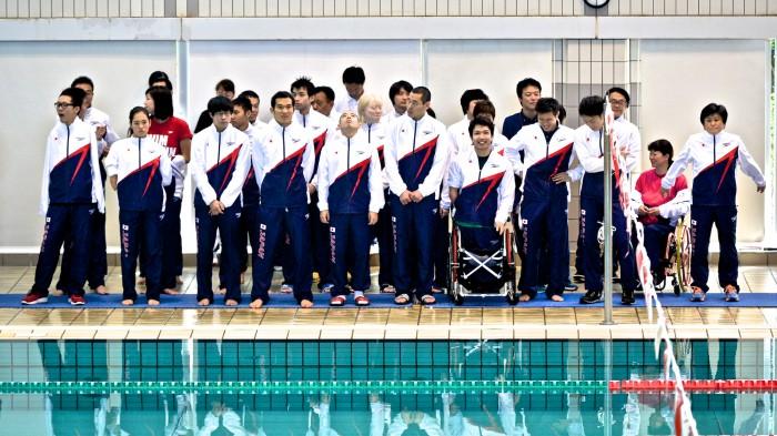 第33回 日本障がい者水泳選手権大会・開会式に集まったリオパラリンピック日本代表選手たち