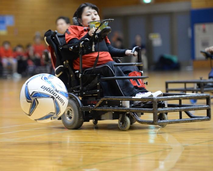 2015第19回電動車椅子サッカー関東大会での永岡真理