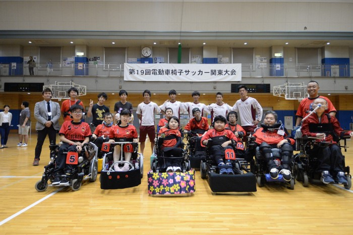 2015第19回電動車椅子サッカー関東大会での横浜クラッカーズの仲間と