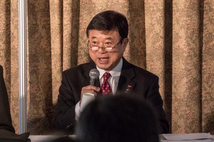 開催概要を説明する、日本障がい者スポーツ協会常務理事、日本パラリンピック委員会副委員長でもある髙橋秀文