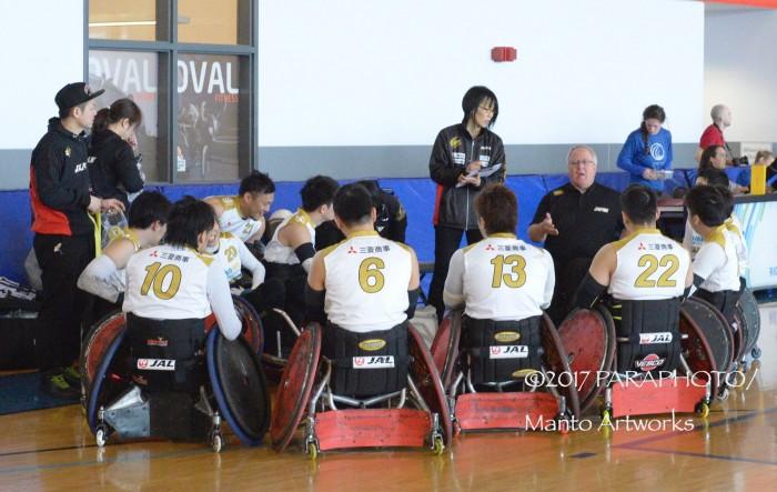 「バンクーバーインヴィテーショナルウイルチェアラグビー」新監督とともにカナダチームとの初戦に出場する日本チーム