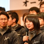 選手代表の挨拶、川本麻衣