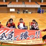 優勝した Nanchester United 鹿児島、選手とスタッフ