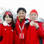 今野ヘッドコーチと記念撮影 ©︎ Special Olympics Nippon