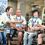 横浜パラトライアスロン応援番組「パラトラトーク」で 写真・山下元気