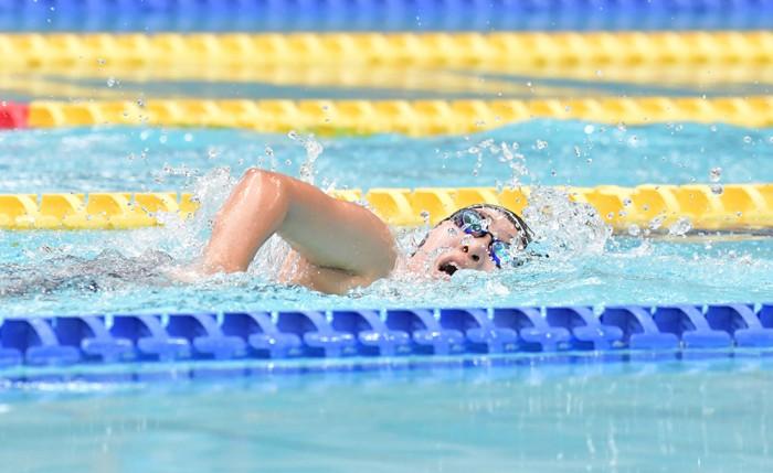 女子400メートル自由形1位、北野安美紗の泳ぎ