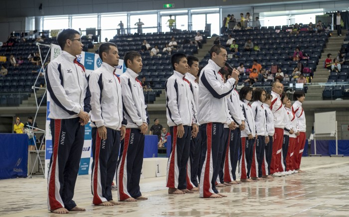 IPC水泳世界選手権に向かう日本代表の走行会が行われた