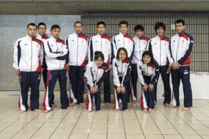 女子の選手が加わった、IPC水泳世界選手権日本代表。走行会のあとに撮影