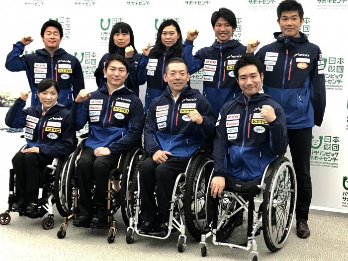 6月8日午後、日本財団ビルでパラスノースポーツ強化選手が集まり、シーズンの報告と平昌への意気込みを伝えた