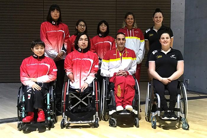ジャパンパラ水泳競技大会の前日に行われた記者会見