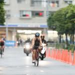 バイク 円尾敦子(アルケア・グンゼスポーツ/兵庫)PTVIとガイド脇真由美 写真・内田和稔