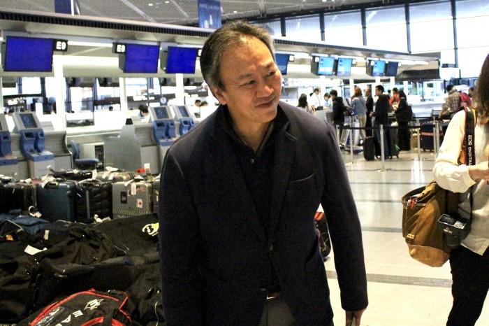 記者の挨拶に応える中北浩仁監督