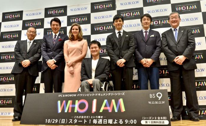 シーズン1のヒーロー・車椅子テニスの国枝慎吾とヒロイン、マールー・ファン・ライン(オランダ・陸上)を囲んだトークショーが行われた
