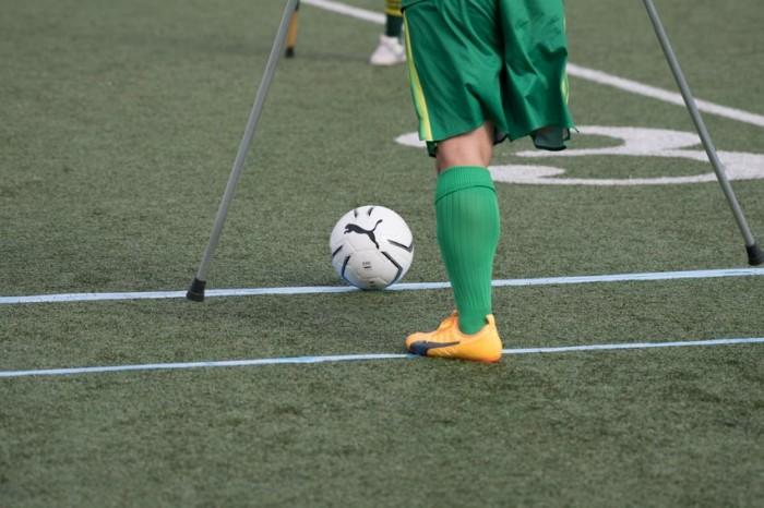 初めて撮る、アンプティサッカー