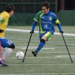 第7回 日本アンプティサッカー選手権大会・1日目の第3試合FCアウボラーダ VS 関西セッチエストレーラス 結果:1 – 0 写真・矢野信夫