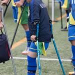 第7回 日本アンプティサッカー選手権大会・1日目の第3試合FCアウボラーダ VS 関西セッチエストレーラス 若い選手が活躍した 結果:1 – 0 写真・矢野信夫