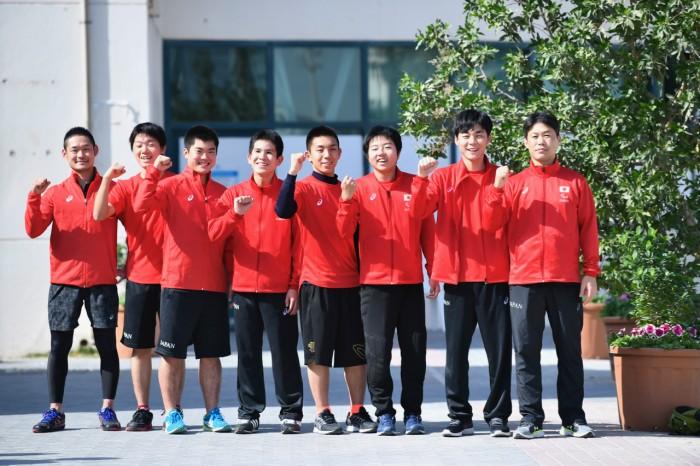 充実した初戦を戦い終えた、男子ゴールボールチームとスタッフ (写真・山下元気)