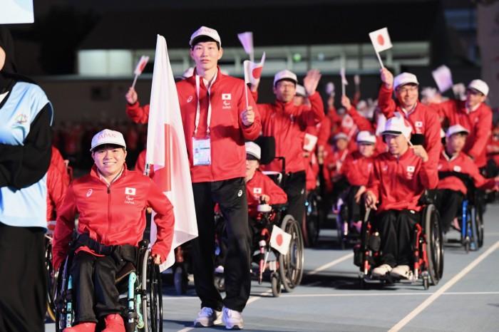 12月10日ドバイ2017年アジアユースパラ競技大会開幕 (写真・山下元気)