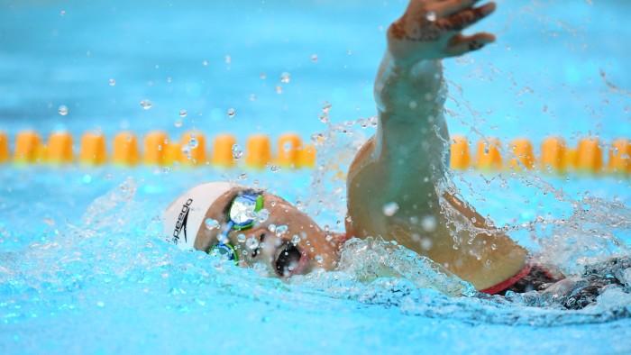 小池さくら(16歳・日体桜華高)400メートル自由型S7の泳ぎ (写真・山下元気)