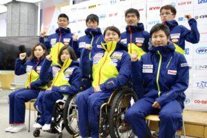 12月25日、日本障害者スキー連盟2017ー18シーズンキックオフ記者会見に出席した、平昌パラリンピック日本代表推薦選手たち