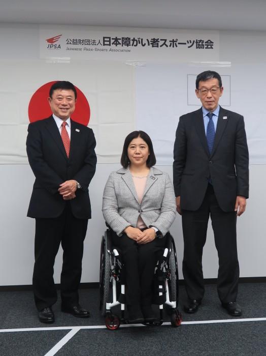 日本障がい者スポーツ協会(東京都)で平昌パラリンピック日本代表選手団一時発表記者会見が行われた。