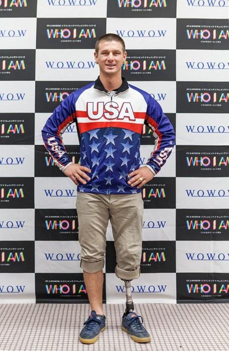 1月24日、WOWOWの招きで来日したエヴァン・ストロング (写真・矢野信夫)