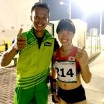 昨年12月にドバイで行われたアジアユースパラ競技大会に吉川琴美選手のパーソナル・コーチとして帯同した塩家氏 (本人提供写真)