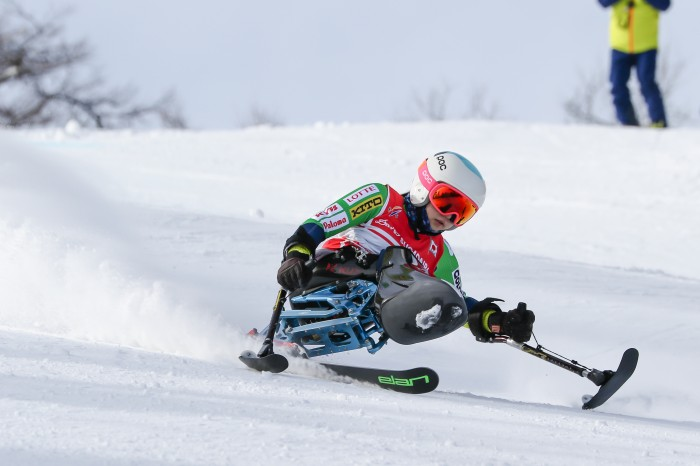 2度目のパラリンピックとなる村岡桃佳(早稲田大学)はスーパー大回転でメダル獲得を狙っている