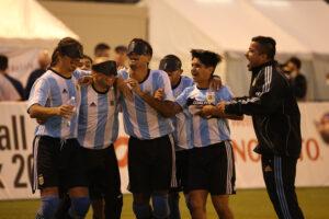 優勝の瞬間。喜ぶアルゼンチンの選手たち
