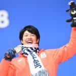 スノーボードクロスで銅メダルを獲得した成田緑夢 (写真・山下元気)