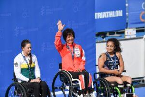 横浜大会2連覇「天気が良くて気持ちよかった」と振り返った。 写真・矢野信夫