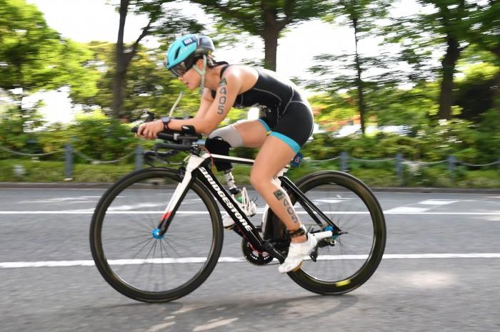 女子PTS4で優勝した谷真海のバイク/山下公園前 写真・矢野伸夫